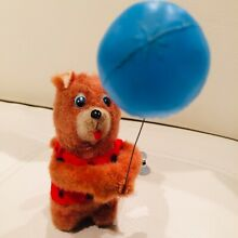 alps toy wind up mechanical bear holding