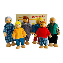 wooden puppet wf puppets toys pure city family 6