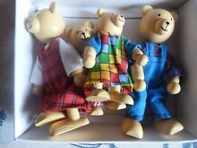wooden puppet wf puppets toys pure bear family