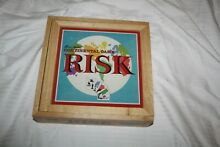 parker bros risk board game in wooden box
