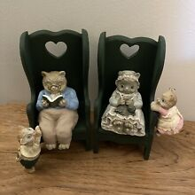 russ berrie co cats canterbury reading knitting