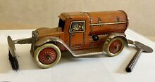 gely road sweeper tanker tin litho penny