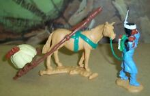 timpo toys indian squaw baby in blue pony