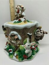 fitz floyd charming tails figurine holly day