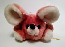 russ berrie mouse pink white small round plush