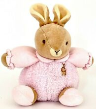 russ berrie baby bow by bitty plush soft rattle