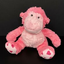 russ berrie applause pink monkey plush hearts