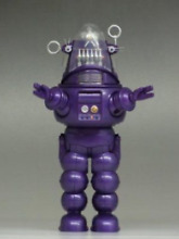 robby the robot robby robot purple die cast figure
