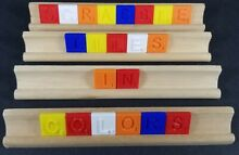 scrabble tiles in color pick your style