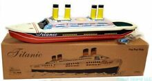titanic tin toy steam pop pop boat classic