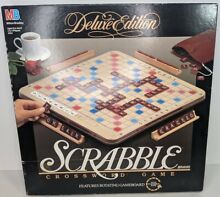 scrabble deluxe edition rotating turntable