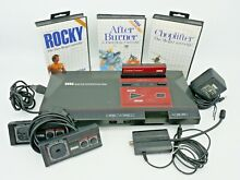 sega master system console 4 games used great