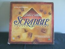 scrabble deluxe edition rotating game hasbro