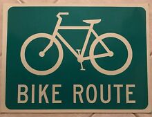 road sign new bike route real reflective film