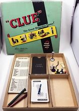 board game 1950 s parker brothers clue game