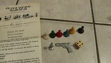 board game 1950 clue game pieces only metal