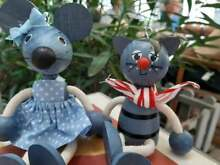 wooden puppet s charlie cat molly mouse hand