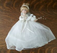 delton porcelain bisque bride doll by