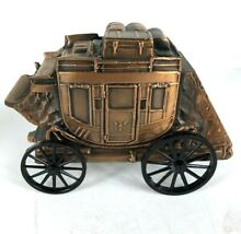 banthrico piggy coin bank old west stagecoach