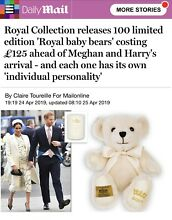 teddy bear official royal baby 2019 only 100