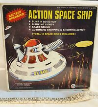flying saucer action space ship tin spielzeug ufo