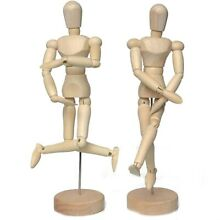 wooden puppet 12 inch flexible model removable