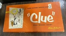 board game parker brothers clue 1949 1950