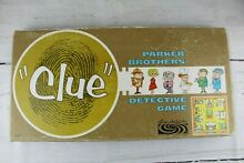 board game clue detective parker brothers 100
