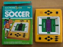 epoch s soccer electronic game retro