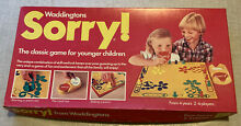 sorry game board game sorry waddingtons 1980