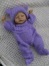 so truly real doll clothes handknitted lavender