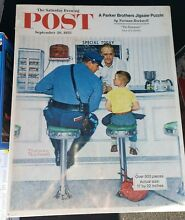 norman rockwell puzzle sealed rockwell post jigsaw puzzle