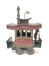 toonerville 1920s trolley tin litho wind up toy
