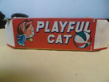 alps playful cat wind up tin toy