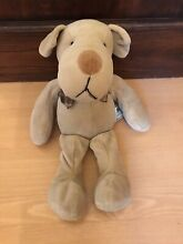 russ berrie homer dog mbna beanie soft toy 12in