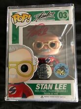 funko pop stan lee signed chrome exclusive 1