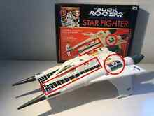 buck rogers 1979 mego star fighter 23 box