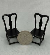 tootsietoy tootsie toy metal dining chair pair