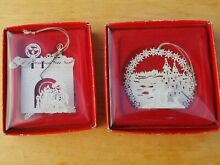 russ berrie 2 christmas silhouettes ornaments