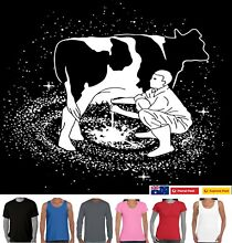 milky marvelous milking cow milky way funny t shirts milking