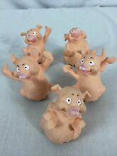 wee little piggies 2001 replacement set 5 pigs hasbro