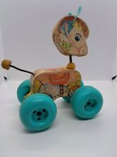 1960 fisher price s patch pony pull toy
