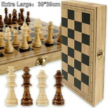wooden chess game set large 15 wood board