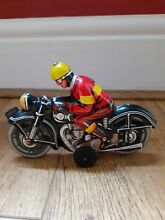 motorcycle tin plate friction drive rider by