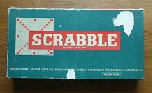 scrabble game 1950 s 1960 s complete wooden