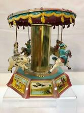 carousel rare tin toy merry go round pony