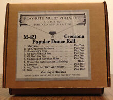 orchestrion cremona music roll m 421 by play