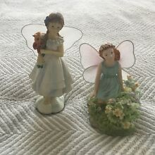 russ berrie lot two fairy figurines unbranded