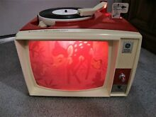 show n tell ge phono viewer model a660d red 7