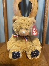 uncle sam ty beanie baby bear white nose mint